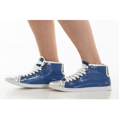bota azul y plata de Nanny State