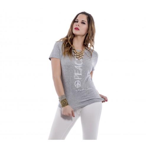 camiseta peace gris Karolina Toledo
