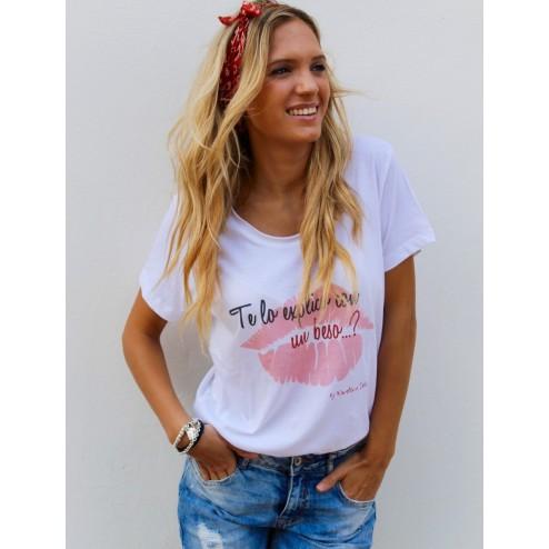 camiseta te lo explico con un beso de karolina toledo moda mujer