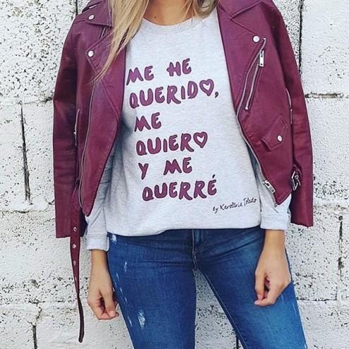 Sudadera Burgundy Me he querido de karolina Toledo