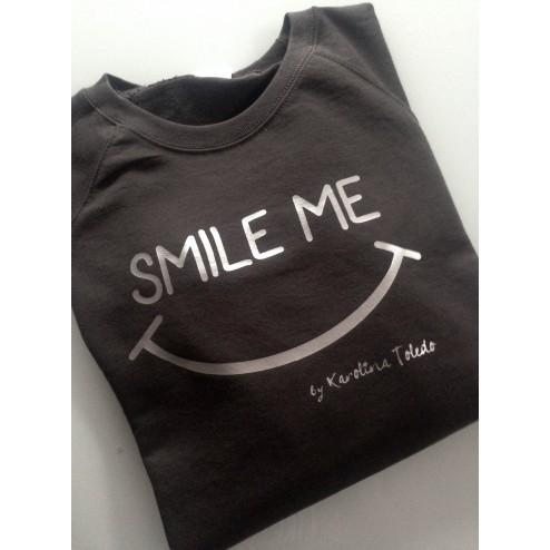 Sudadera Gris Oscuro y plata Smile Me de Karolina Toledo