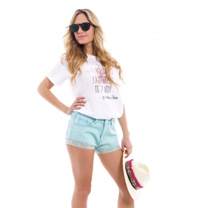 Star Rosa Difuminada Karolina Toledo Camiseta AHwq0H