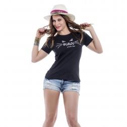 Camiseta Negra Guauu de Karolina Toledo