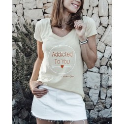 Camiseta Amarilla Addicted To You
