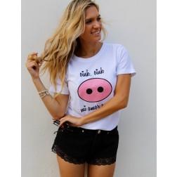 Camiseta Blanca Oink Oink