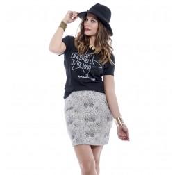 Camiseta Star Negra de karolina Toledo