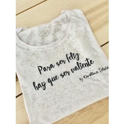 Camiseta Blanca Para Ser Feliz de Karolina Toledo