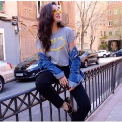 Camiseta Smile Me Amarillo