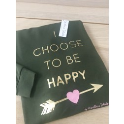 Sudadera Verde I choose To Be Happy de karolina Toledo