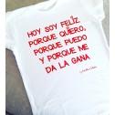 Camiseta Hoy Soy Feliz... de karolina toledo moda online mujer
