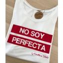Camiseta blanca de mujer No soy Perfecta