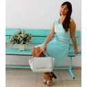 Vestido verde agua de gasa summer collection
