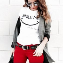 Camiseta Blanca Smile Me