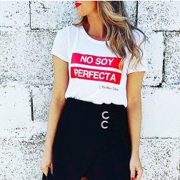 Camiseta Blanca No soy Perfecta