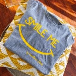 Camiseta Smile Me Gris para Peques
