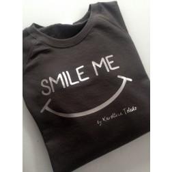 Sudadera Gris Oscuro Smile Me