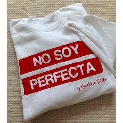 Sudadera Blanca No Soy Perfecta