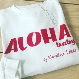 Sudadera Blanca Aloha de Karolina Toledo