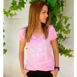 Camiseta Rosa Yo soy la estrella de mi vida de Karolina Toledo