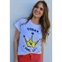Camiseta karolina toledo imodashop princess colores