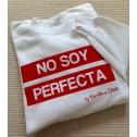 Sudadera Blanca No soy perfecta de Karolina Toledo