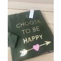 Sudadera verde I choose to be happy de karolina toledo