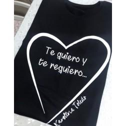 Camiseta Negra Te Quiero Y Te Requiero