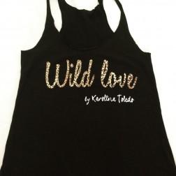 Camiseta Negra Wild Love de Karolina Toledo