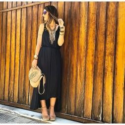 Vestido Negro Largo de Ichi