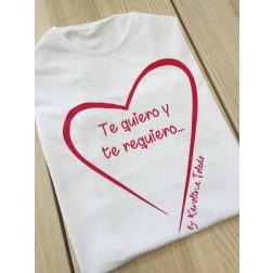 Camiseta Blanca Te Quiero y Te Requiero
